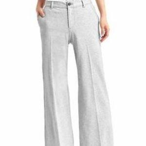Gap Brand womens wide leg trouser dress pants grey